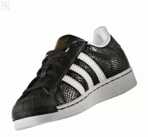 adidas Originals Superstar Reptile Childrens Trainers Black & White RRP £55 BNIB
